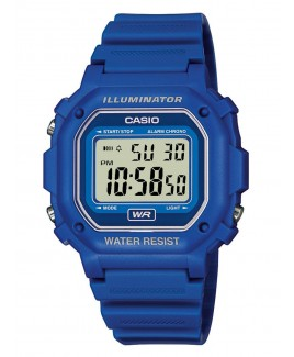 Casio F108WH 30m Water Resistance Digital Watch with Blue Resin Strap