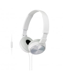 Sony MDR-ZX310AP/W Lightweight, Folding Stereo Headset (White)