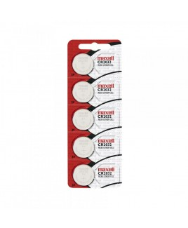 Maxell 2032 Micro Lithium 3V Coin Battery, Sold in strips of 5 only