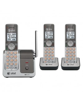 AT&T CL81301 DECT6.0 Caller ID Cordless Phone Push-To-Talk Handset Speakerphone Three Handset Bundle