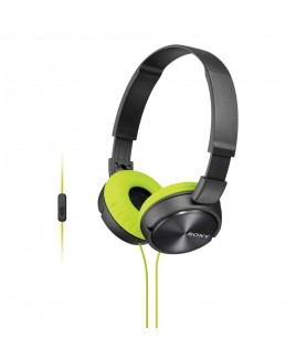 Sony MDR-ZX310AP Lightweight, Folding Stereo Headset (Grey/Yellow)