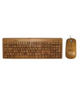 IMPECCA Full Bamboo Keyboard and Mouse Combo