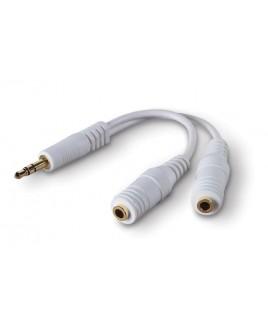 Belkin F8V234 6-inch Speaker and Headphone Splitter, White