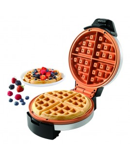 STARFRIT 7-inch Copper Ceramic Electric Waffle Maker