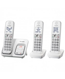 Panasonic 3-Handset Expandable Cordless Phone with Call Block and Answering Machine