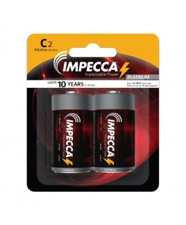 IMPECCA Alkaline C LR14 Platinum Batteries 2-Pack