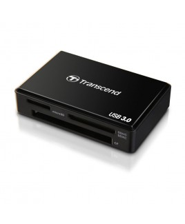 Transcend RDF8 USB 3.0 Multi Card Reader, Black