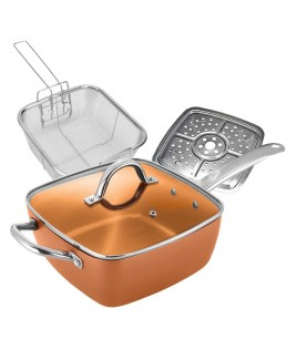 Cookinex Copper Square Frying Pan