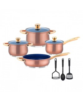 Kung Fu 10 Piece Copper Look Cookware Set