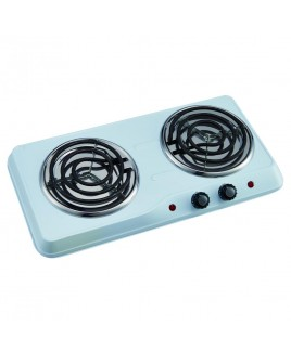 Courant 1700 Watts Electric Double Burner, White